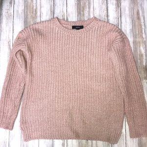💓🍁 Fuzzy Warm Fall Sweater Light Pink Rose NWOT